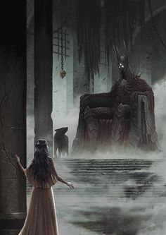 The Throne Of Morgoth by DanPilla.deviantart.com on @DeviantArt