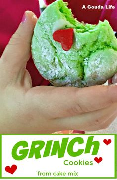 Easy Christmas Cookie Recipes, Christmas Cooking, Holiday Desserts, Holiday Baking, Holiday Recipes, Christmas Cookies For Kids, Grinch Christmas Party, Grinch Party, Party Desserts