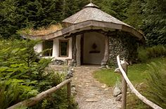 cob house hollyhock | Flickr - Photo Sharing!