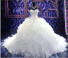 New White/ivory Wedding dress Bridal Ball Gown Gocustom size 6-8-10-12-14-16-18+