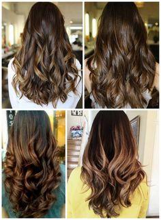 cabelo castanho iluminado