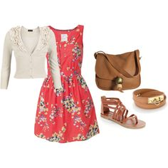 Cute, modest spring outfit. I love the bag.