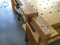 Detailed view of the Paulk Workbench #workbench #Paulk #woodworking #DIY
