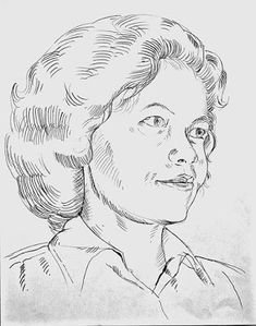 jatmika sketch & drawing: Gambar Potret Ibu Guru Badriyah