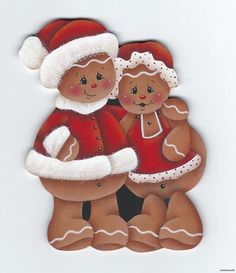HP Gingerbread Mr Mrs Claus Fridge Magnet   eBay