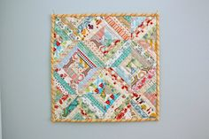 Easy Scrap fabric quilt block - Diary of a Quilter - a quilt blog