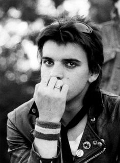 Simon Gallup, The Cure 1980 at Centennial Park, Sydney. by Catherine Croll