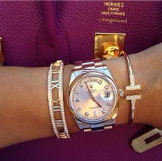 Hermès+ Rolex Day-Date II