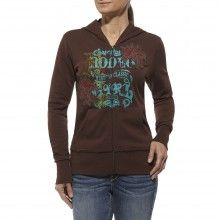 Staying warm never looked so cool. This hoodie is made of cotton blend fleece and features an embellished front with a front zip. Country Outfitter, Hoodies, Sweatshirts, Stay Warm, Graphic Sweatshirt, Clothes For Women, Long Sleeve, Mens Tops, Woman Clothing