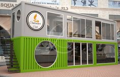 The KSA constructed pop-up café container design perfect for small start-up cafes. CAS designed it with just 2 shipping containers. Container Design, Café Container, Container Coffee Shop, Container House Price, Container Homes For Sale, Shipping Container Home Designs, Container Architecture, Container Buildings, Interior Design Layout