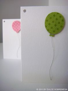 Simple balloon invitation card