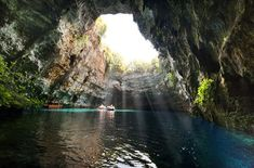 Melissani Cave, Kefalonia, Greece - The 20 Most Beautiful Places in Europe - Condé Nast Traveler Algarve, Greece Holiday, Places In Europe, Parc National, Filming Locations, Greek Islands, Nice View, Cool Places To Visit, The Good Place