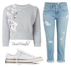 """""""Untitled #232"""" by rocio06morales ❤ liked on Polyvore featuring Philipp Plein, AG Adriano Goldschmied and Converse"""