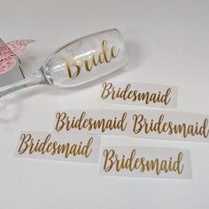 VINYL STICKER ONLY champagne flute decal, diy Bridal party glasses, Zingaboo, wedding toasting glass, bridesmaid personalised name or role Bridal Glasses, Champagne Glasses, Personalised Glasses, Personalized Champagne Flutes, Wedding Toasts, Bridesmaid Proposal, Vinyl, Diy Party, Diy Wedding