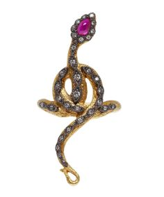 Gold ruby snake ring from the Arman Sarkisyan collection