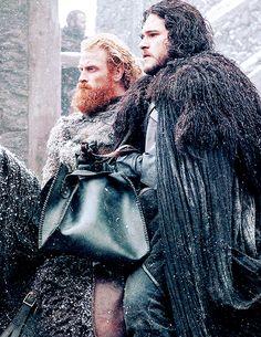 "Kit Harington comme Jon Snow dans S5xE07, ""The Gift"" (x)"