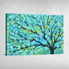Mavi Ağaç Tablo
