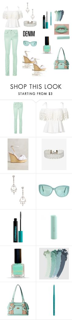 White And Mint Denim by siriusfunbysheila1954 on Polyvore featuring Ralph Lauren, RED Valentino, Guilhermina, b.o.c. Børn Concept, Express, Linda Farrow, Gucci, Urban Decay, NYX and Eos