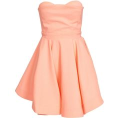 Ginger Fizz Peachy Keen Dress (52.300 CLP) ❤ liked on Polyvore featuring dresses, party dresses, peach, womens-fashion, red circle skirt, peach cocktail dress, red skater skirt, circle skirt and tall dresses