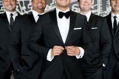 Groom in a bow tie and groomsmen in a tie? - Weddingbee