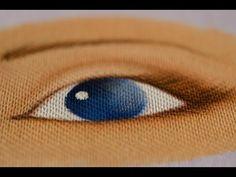 Pintura em tecido Eliane Nascimento: Olhinho da boneca. - YouTube
