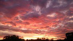 wunderschöner Sonnenaufgang im Werratal