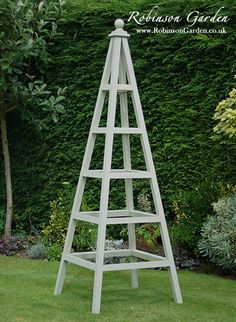 Robinson_Garden bespoke wooden garden obelisks. View our full collection at our online store, visit http://www.RobinsonGarden.co.uk Robinson_Garden - Bespoke garden products.