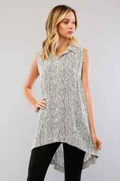 Striped Sleeveless Top - ME Boutique Online