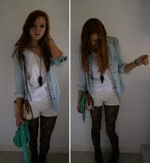 want an outfit like this, am on the hunt for knitted shorts either in this color or gray:)