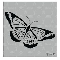This easy-to-use Butterfly Small Stencil from is perfect for walls, home decor, clothing and more. Each stencil is cut high quality in order to provide a long lasting design. The possibilities of what you can create with a stencil are endless. Easy Butterfly Drawing, Butterfly Stencil, Butterfly Painting, Stencil Art, Stencil Designs, Stencils, Deer Silhouette, Silhouette Design, Detail Art
