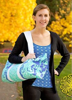 Sew an EASY Yoga Tote - Free Tutorial
