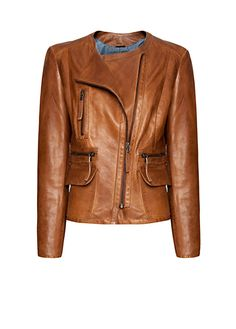 Motor style leather jacket with multi-pockets, notched lapel and an asymmetric zip closure.    http://shop.mango.com/US/p0/mango/outlet/leather-jacket/?id=63105352_74=1=outlet_usa_she=0==1360360017764