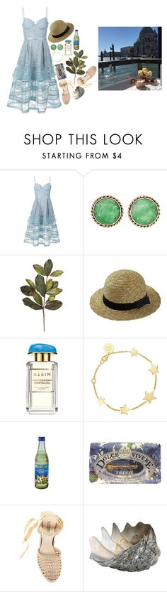 """Dolce far niente"" by anukij ❤ liked on Polyvore featuring self-portrait, CO, Estée Lauder, SOPHIE by SOPHIE, Nesti Dante and Catherine Catherine Malandrino"