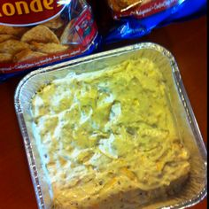 "Super Bowl party dip #1     This is from My board ""Yummy"" it's called ""crack dip""  it is that good !!"