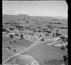 Aerial photograph taken by Whites Aviation. Quantity: 1 b&w original negative(s). New Zealand, History, Xmas, Historia, Christmas, Navidad, Noel, Natal