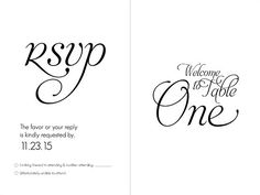 FREE Download: Printable Wedding Table Numbers Template