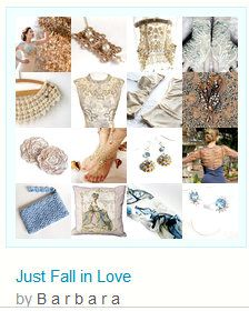 """☛""""Just Fall in Love"""" by www.etsy.com/shop/paroliro features vintage and hand made classic, romantic, bridal worthy fashions and accessories from my fellow talented worldwide Etsians; [*Click on image to see all 16 items I chose, and full details on all of them.] Thank you and enjoy!☚ --Pinned with TreasuryPin.com"""
