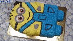 Торт Минион/How To Make a MINION CAKE/Easy Minion Cake Tutorial/Buttercream Minion Cake by MelsEasyCake Minion Cake Tutorial, Minions, Minion Cakes, Buttercream Cake, 2nd Birthday, Cake Decorating, Easy, Desserts, Babies