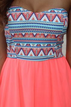 Neon Coral Short Dress – Saved by the Dress
