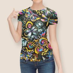 Discover «Rainbows End», Limited Edition Women's All Over T-Shirt by Jean Batzell Fitzgerald - From $49 - Curioos