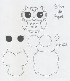 Quilt-owe torebki, portmonetki i etui Felt Animal Patterns, Owl Patterns, Stuffed Animal Patterns, Felt Owl Pattern, Owl Crafts, Crafts For Kids, Paper Crafts, Felt Christmas, Christmas Crafts