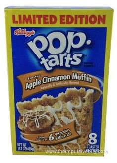Kellogg's Limited Edition Frosted Apple Cinnamon Muffin Pop-Tarts