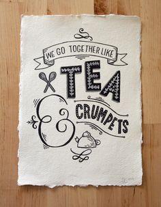 A4 Original Typography Art  'We go together like par stephsayshello, £60.00