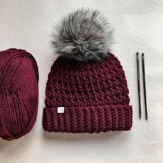 Ruby Webbs - The Dani Beanie (Crochet) Crochet Beanie Pattern, Crochet Cap, Easy Crochet, Crochet Hooks, Crochet Stitches, Hat Patterns, Crochet Toddler Hat, Crochet Crafts, Crochet Hat Patterns