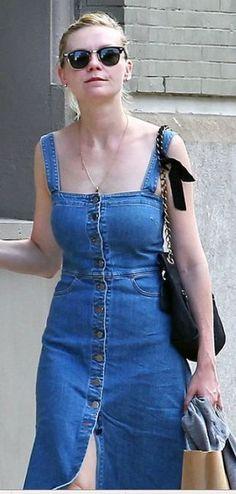 New Dress A Day - DIY - vintage denim dress - kirsten dunst: