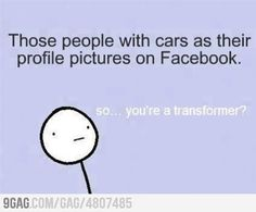 Now...I'm kinda guilty of this...but it was a picture of me hugging my car...does that count?