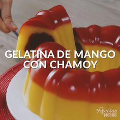 Mango Dessert Recipes, Gelatin Recipes, Jello Recipes, Mexican Snacks, Mexican Food Recipes, Tasty Videos, Food Videos, Cooking Recipes, Oven Cooking