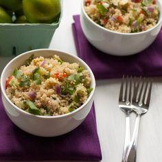 Cilantro Lime Quinoa Salad HealthyAperture.com
