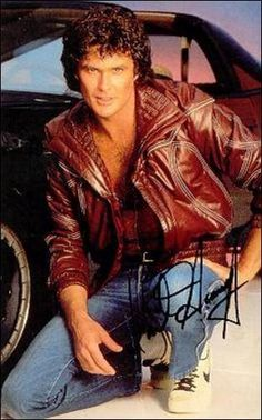 David Hasselhoff back in the day Gta, K 2000, 80 Tv Shows, All Superheroes, Star David, Baywatch, Teenage Years, Old Tv, Senior Pictures