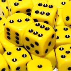 yellow.quenalbertini: Yellow dice